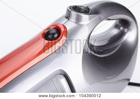 poster of Vacuum cleaner on clean and white background
