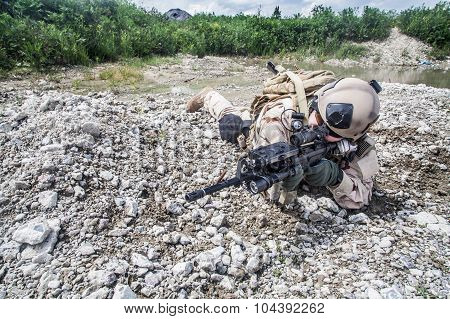 Navy SEAL in action
