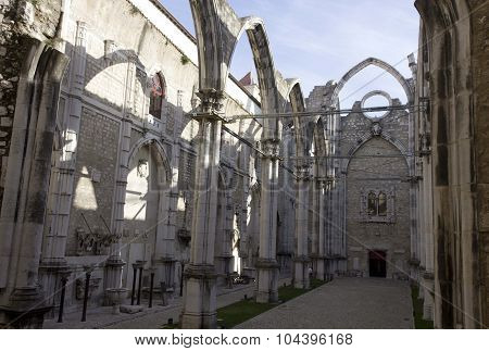 Inside Carmo Convent In Lisbon