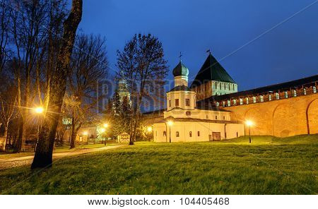 Church Of The Intercession And The Tower Of Intercession Of The Novgorod Kremlin