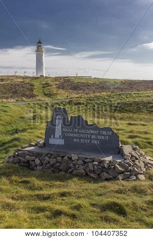 Mull Of Galloway Lighthouse And Buyout Plaque Left