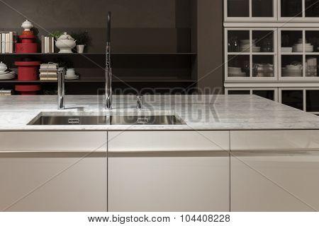 Marble Top Kitchen Sink