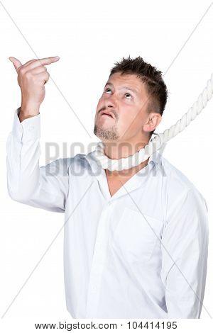 Businessman Showing Middle Finger