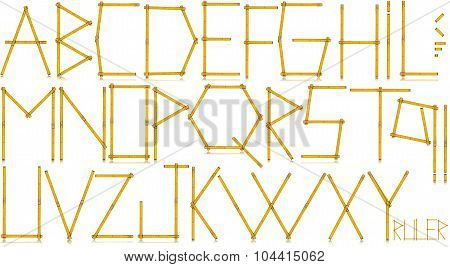 Typeface - Old Yellow Meter Ruler