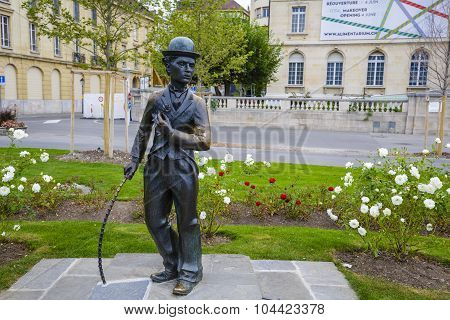 Charlie Chaplin Statue, Vevey