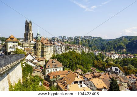 Cityscape Of Fribourg
