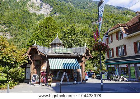 Stylized Commercial Pavilion In Interlaken