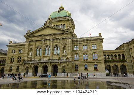 The Government Building Of Switzerland In Bern