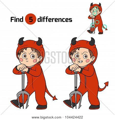 Find Differences: Halloween Character (devil)