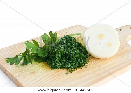Chopped Parsley And Onion