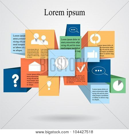 Element Info-graphic With Flat Icon.web Design- Stock Vector.