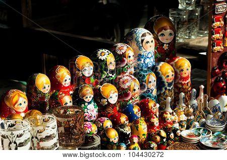 Sale Of Russian Souvenirs -  Nesting Dolls