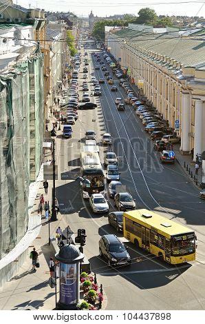 Sadovaya Street - One Of The Main Streets Of St. Petersburg, Russia