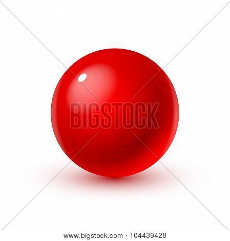 Glass sphere with blood
