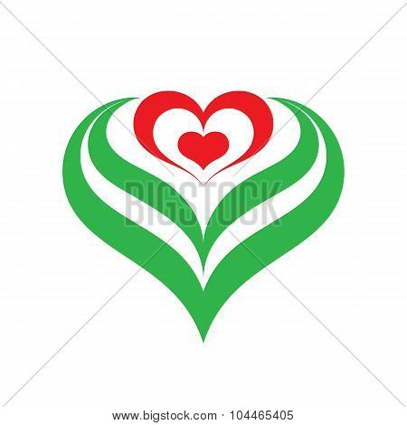 Heart flower - vector sign illustration. Heart flower logo. Valentines day vector illustration.