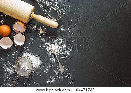 Bakery Background : Baking Ingredients