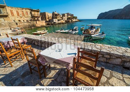 Seafood restaurant greek
