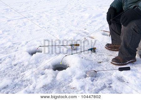 Winter Fishing Closeup