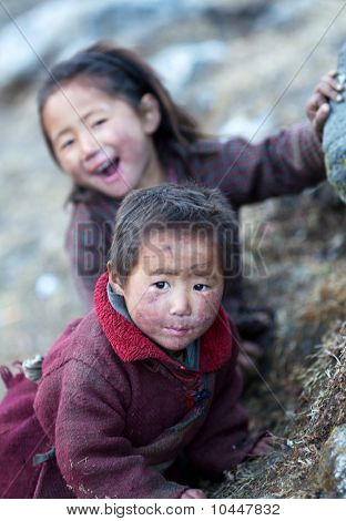 Two Tibetan Girls