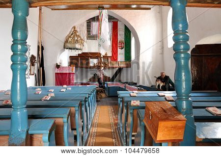 Interior Of A Hungarian Unitarian Church In Transylvania