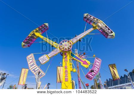 Pendulum Amusement Ride In Royal Melbourne Show