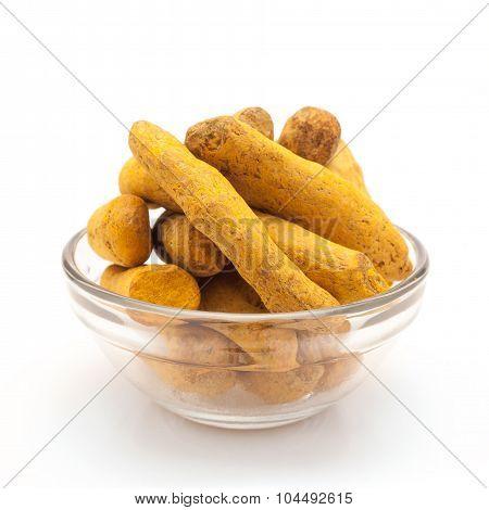 Bowl of Organic Long Turmeric.