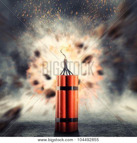 Dynamite exploding poster