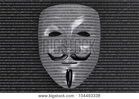 Anonymous Mask, Cyber Criminal Concept