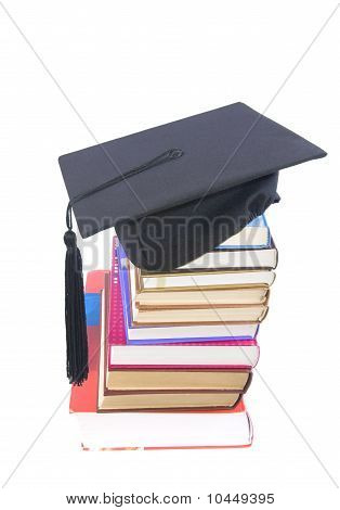 Student Hat  And Books