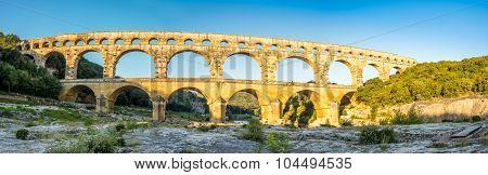 Panoramic View Of Pont Du Gard