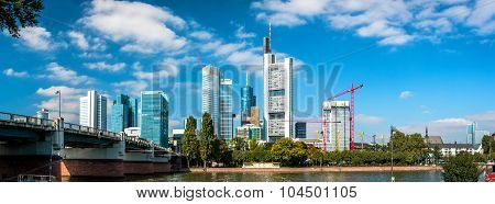 Panorama Of Frankfurt Am Main. Germany