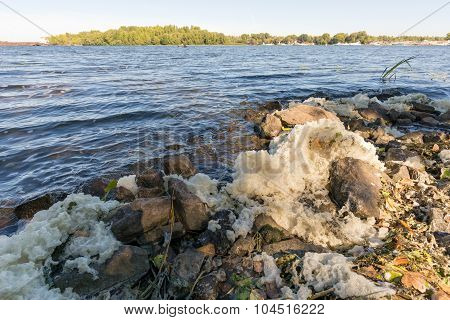 Foam Pollution In The River