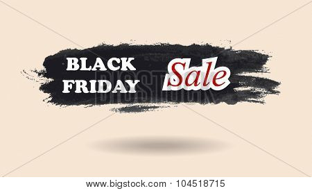 Black Friday watercolor banner design. Vector background