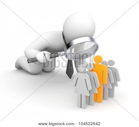 Selection of the personnel. Man is a leader poster
