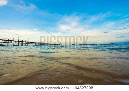Bridge To The Sea In Morning