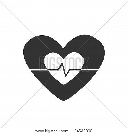 Vector icon heart pulsates