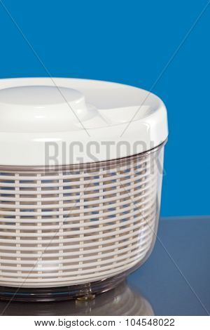 Close up of a salad spinner