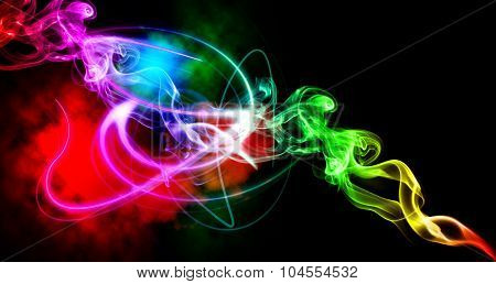 Abstract Smoke Graphic Colorful Background.