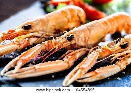 Appetizing Grilled Spiny Lobsters.