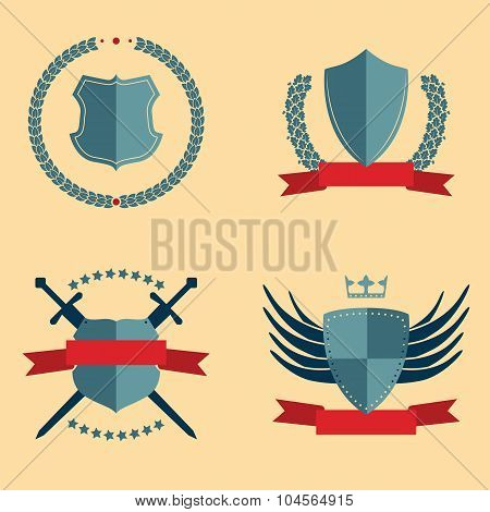 Shields - heraldic design elements