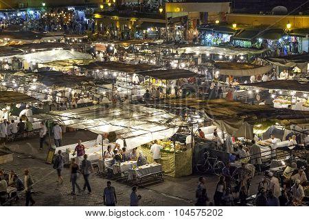 Jamaa el Fna, Square in Marrakesh (Morocco)