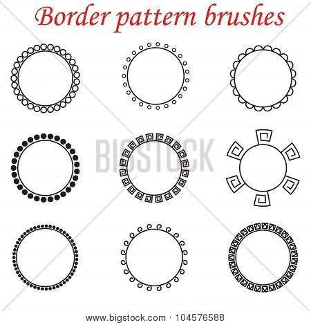 Vector pattern brushes for borders, dividers and frames.