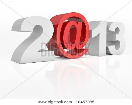 Text 2@13 2013 Isolated On White Background