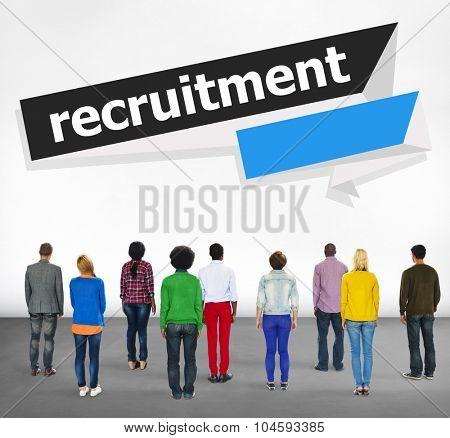 Recruitment Hiring Career Human Resources Concept poster