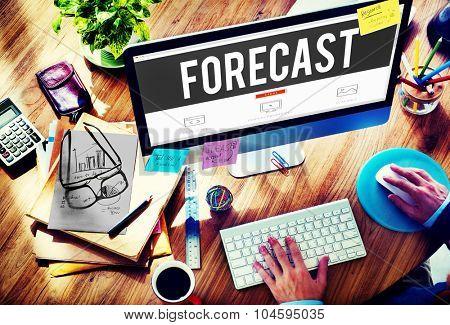 Forecast Prediction Precision Probability Future Concept poster