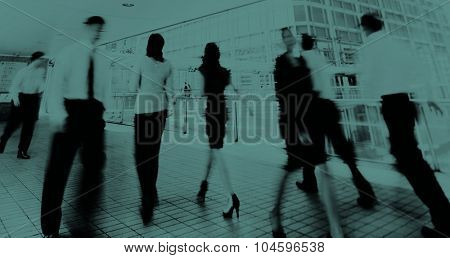 Business People in Motion Commuter Walking Concept