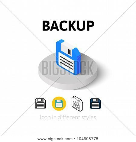 Backup icon in different style