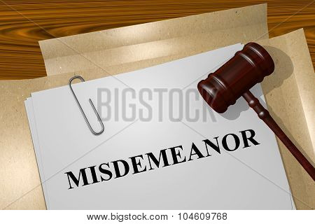 Misdemeanor Concept