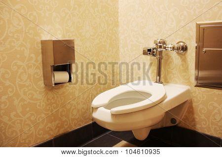 White porcelain toilet