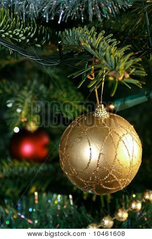 Golden Ball For The Xmas Tree